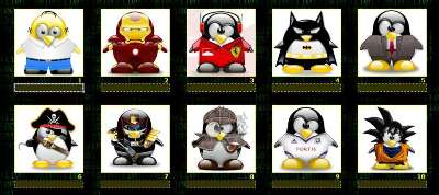 Una de pingüinux por Pinky