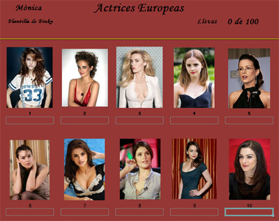 Actrices europeas por Monica
