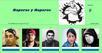 Raperas y raperos por Sartana