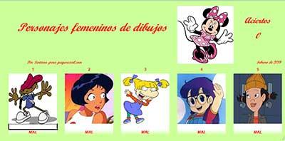 Personajes femeninos de dibujos por Sartana