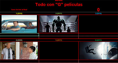 Todo con G películas por Mariana
