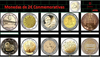 Monedas de 2€ por Pinky